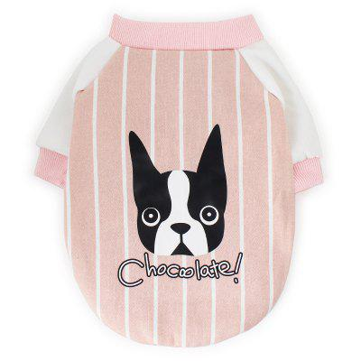 Dog Clothes Single-layer Baseball Shirt Pipi Amoy Autumn And Winter Cartoon Sweater Plus Velvet Pet Sweater