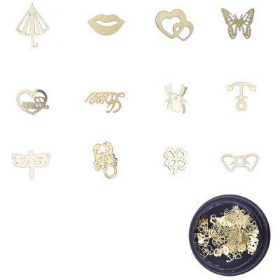 Nail Jewelry Metallo Tablet Natale Sticker Foglia Gear Golden Super Thin Film 120 pezzi