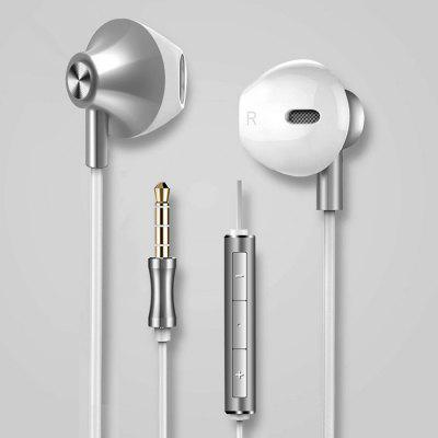 Mobile Phone Headset Sports In-ear Noise Reduction Line Control With Wheat Headset Subwoofer Headphones
