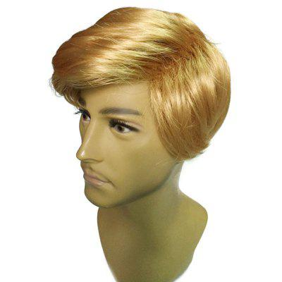 Wig Golden Wig Men Short Straight Hair Wig