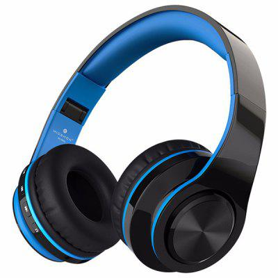 Headband Stereo Bluetooth Headset Wireless Over-ear Sports Subwoofer Headphone with Microphone