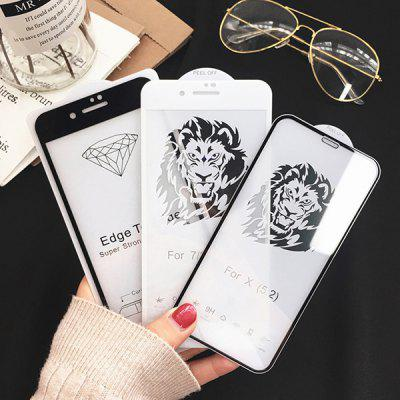 Mobile Phone Full Screen Silk A83 Printed Two Strong Tempered Film A73 Tempered High-definition Glass Film Full Screen for OPPO