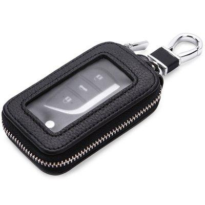 Inside and Outside Full Leather Car Key Bag Hanging Universal