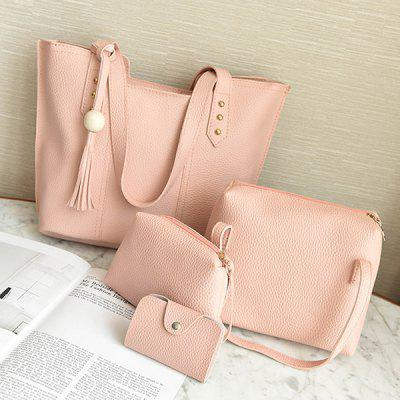Composite Top Handle Shoulder Bag Crossbody Tote Purse Handbag 4PCS