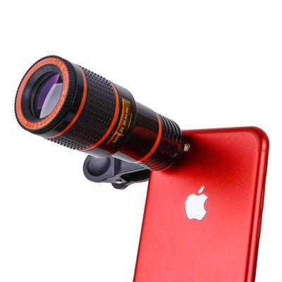 Mobile Phone Telescope Universal 12 Times Mobile Phone Lens Clip Mobile Phone Camera Fisheye Lens Mobile Phone External Lens