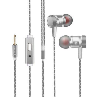G63 Metal Heavy Bass Wired Headphones with Wheat Headphones