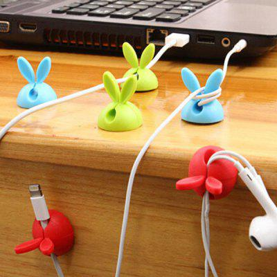 Rabbit Ears Simple Wire Holder 4 Pieces Of Silicone Winder Desktop Glue Wire Holder
