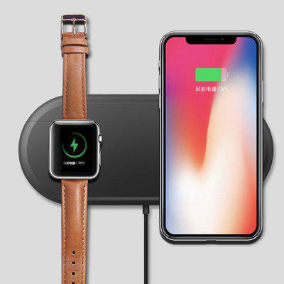 Two In One Wireless Charger for Mobile Phone / iWatch