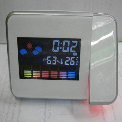 Météo Horloge Prévisions Projection Horloge LED Horloge électronique Luminous Mute Alarm Clock 8190 Projection Alarm Clock