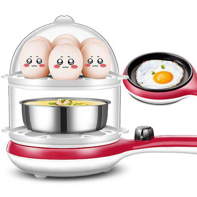 Multi-function Double-layer Steamed Mini Egg Cooker Frying Pan Three-in-one Breakfast Machine