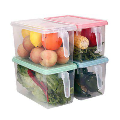 Creative Plastic Storage Box Kitchen Storage Storage Box Plastic Transparent Storage Box Refrigerator Storage Box