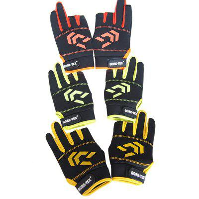 Spring Autumn Winter Outdoor Fishing Leak Three Fingers Fishing Gloves