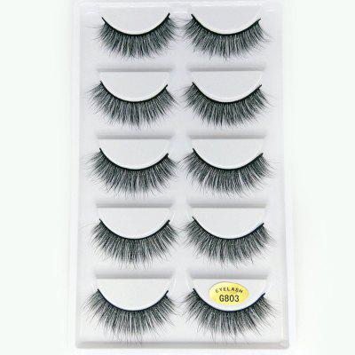 3D Mink Hair False Eyelashes 5 Pairs Of Economical Wear Three-dimensional Multi-layer False Eyelashes