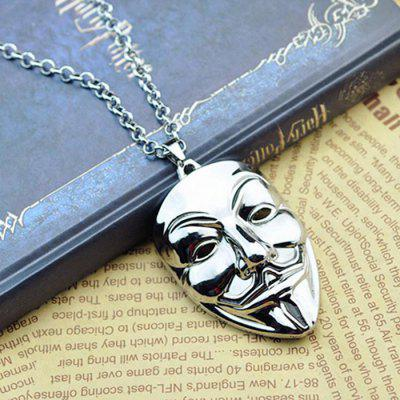 Foreign Movie Necklace Mask Necklace Sweater Chain