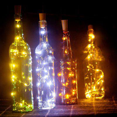Decorative Christmas Day Party Cork Light String 20LED Copper Wire Light