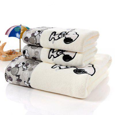 Cartoon Snoopy Towel Microfiber Applique Embroidered Towel Soft Water Absorbing Group Customized Face Towel