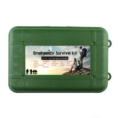 Outdoor Multi-function First Aid Equipment Box Survival Watch Set Earthquake Car Self-help Kit Emergency Kit