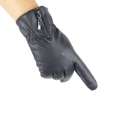 Autumn And Winter Touch Screen Leather Gloves Men Leather PU PU Korean Fashion Gloves
