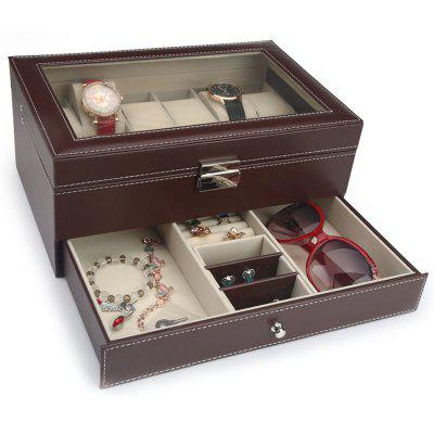 Watch Storage Box PU Leather Glasses Case Sunglasses Sunglasses Gift Box Jewelry Display Box