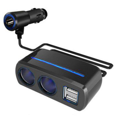 Auto Supplies Converse With 3usb Cigarette Lighter 3a High One For Two Car Charger Sd