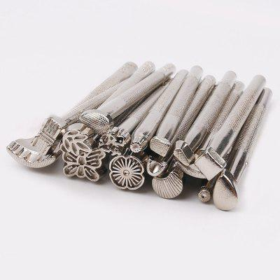Leather Diy Tool Leather Carving Printing Tool Handmade Leather Bag Purse Embossed 16 Pack Tool Set