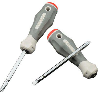 JX - 1161A Cross Word Two-purpose Screwdriver Approved Set Magnetic Plum Flat Head Household Double-head Screwdriver Screwdriver Tool