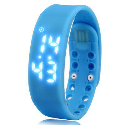 Smart Watch LED Pedometer Temperature Time Display Bracelet
