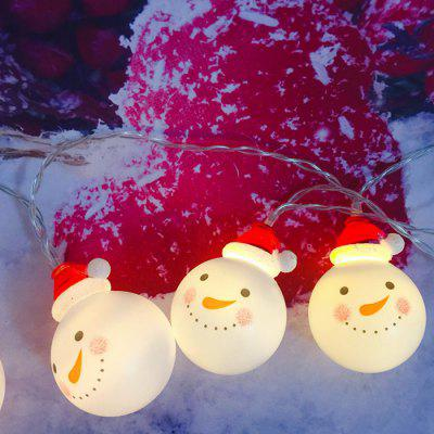 Led Lantern String Christmas Snowman Avatar Knipperende lichten Christmas Series Holiday Lights