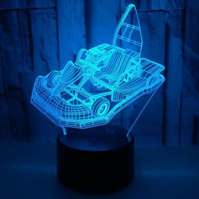 Kart Colorful 3d Table Lamp Gift 3D Night Light Touch Remote Control 3D Lamp