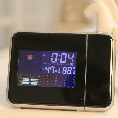 Weather Forecast LED Electronic Clock Multi-function Calendar Alarm