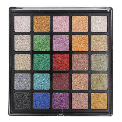 25 Color Diamond Glitter Eyeshadow Palette Nude Makeup Pearl Glitter Powder Eye Shadow Makeup Makeup Dish