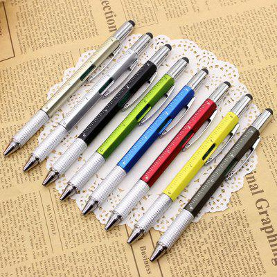 Multi-function Screwdriver Tool Caliper Level Scale Capacitor Touch Ballpoint Pen