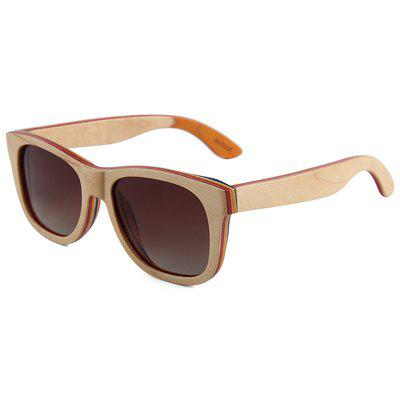 Bamboo Wood Glasses Skateboard Laminated Polarized Sunglasses