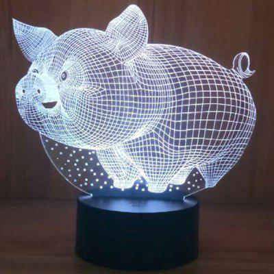 Fat Pig Cartoon Night Light Children's Day Gifts Bedroom Lights Baby Room Decoration Light