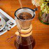 Heat-resistant Hand-washed Filter Coffee Pot with Wooden Handle - STAINLESS STEEL FILTER
