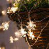 Christmas LED String Lights Flash Lights Stars Decorative Lamps Festival Hanging Lights Small Lanterns - 6 METERS 40 LIGHTS - WHITE SNOWFLAKES - BATTERY MODELS