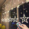 LED Star Decoration Lanterns for Dormitory / Bedroom - 3.5 METERS WARM WHITE STARS CURTAIN LIGHTS PLUG-IN MODELS