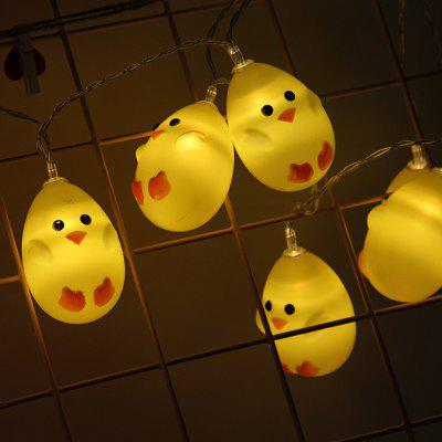 LED modelování zvířat Light String Malé žluté kachny Chick světla Řetězec Children's Room Decoration Téma Party Arrangement Lights