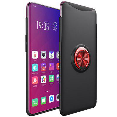 Titular do carro shell móvel pc hard case capa anel magnetic magnetic phone case criativo para oppo encontrar x