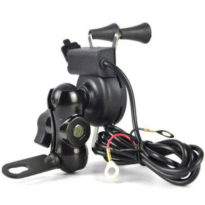 Motorcycle Rechargeable Phone Holder Electric Pedal Bicycle GPS Navigation Cycling USB Charger Universal