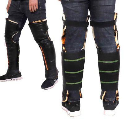 Winter Motorcycle Protective kneepad PU Leather Cold Protection Thickening And Lengthening