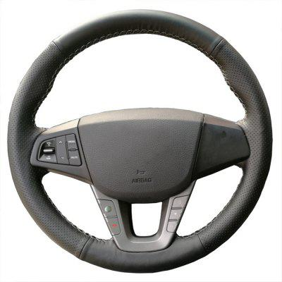 Modern Famous Figure Leather Hand-sewn Steering Wheel Cover Car Four Seasons Special Leather Hand Sewing Cover