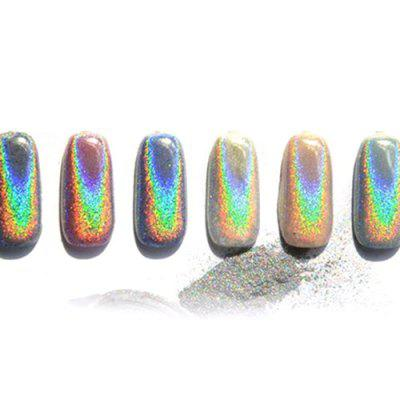 Nail Laser Mirror Powder Rainbow Colorful Mirror Flash Pink Colorful Powder Nail Polish Mirror Flour