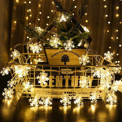 LED Light String Christmas Snowflake Holiday Decoration
