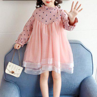 Y3588 Girls Long-sleeved Princess Dress