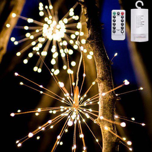Led Fireworks Lights Solar String Christmas Explosion Modeling Copper Wire Outdoor Decorative