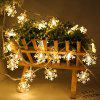 LED Light String Christmas Snowflake Holiday Decoration - 1.5 M 10 LIGHT BATTERY SECTION WARM WHITE