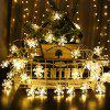 LED Light String Christmas Snowflake Holiday Decoration - 6 METERS 40 LIGHT BATTERY WARM WHITE