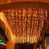 Ice Bar Lights Garden Electronic Curtain Lights String Holiday Background Wedding Decoration - PINK 5*0.8 M 216 LIGHTS WITH TAIL