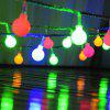 LED Lights Flashing String Lights Led Ball Lights String Christmas Stars Decorative Lights String - [BATTERY MODELS] 10 METERS 80 LIGHTS ROUND YELLOW